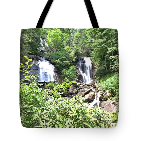 Anna Ruby Falls - Georgia - 1 Tote Bag by Gordon Elwell