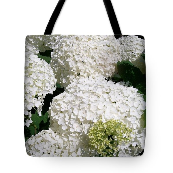 Annabelle Hydrangea  Tote Bag by Sharon Duguay