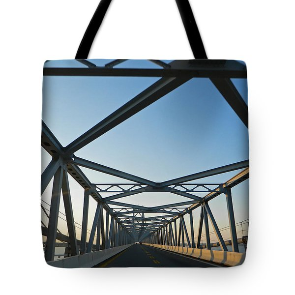 Annapolis Bay Bridge At Sunrise Tote Bag