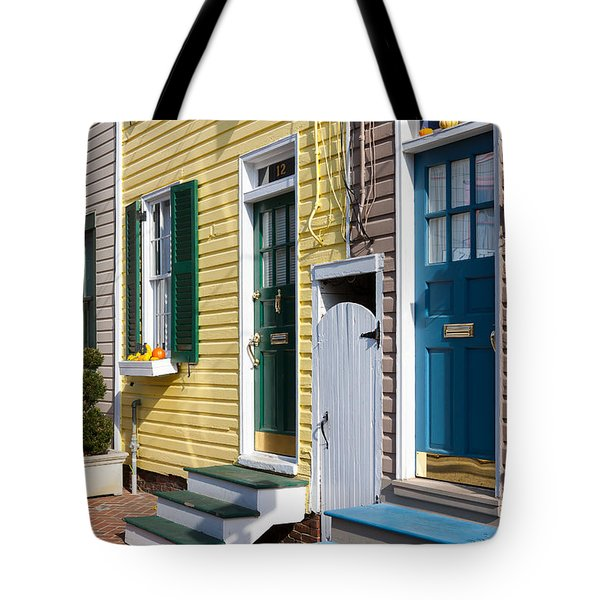 Annapolis Historic Homes I Tote Bag