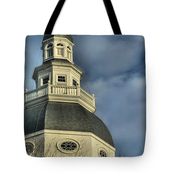 Annapolis Statehouse Tote Bag by Jennifer Wheatley Wolf