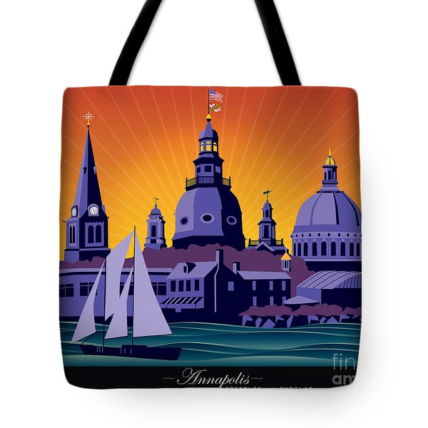 Annapolis Steeples And Cupolas Tote Bag