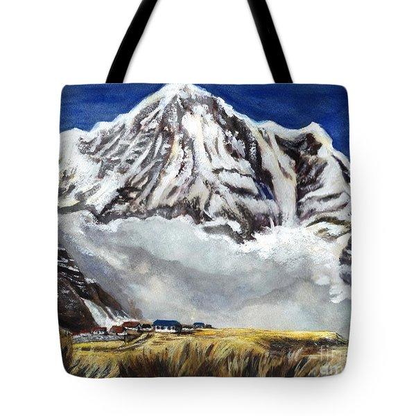 Annapurna L Mountain In Nepal Tote Bag
