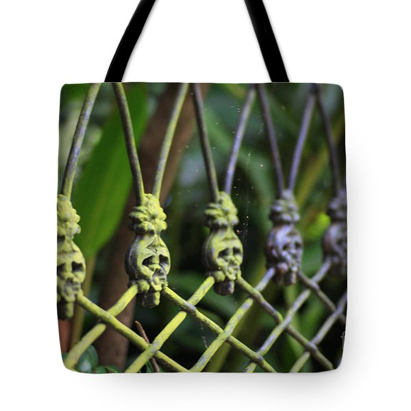 Tote Bag featuring the photograph Anne Rice Fence by Heather Green