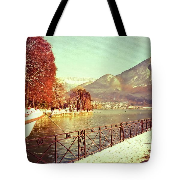 Annecy Golden Fairytale. France Tote Bag by Jenny Rainbow