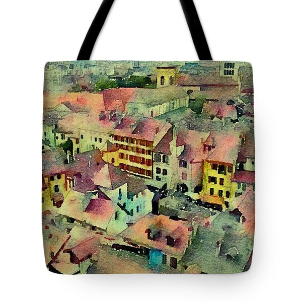 Tote Bag featuring the photograph Annecy Rain by Susan Maxwell Schmidt