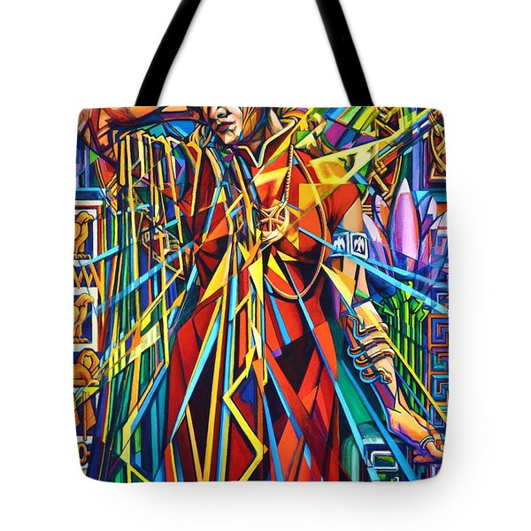 Tote Bag featuring the painting Annelise2 by Greg Skrtic