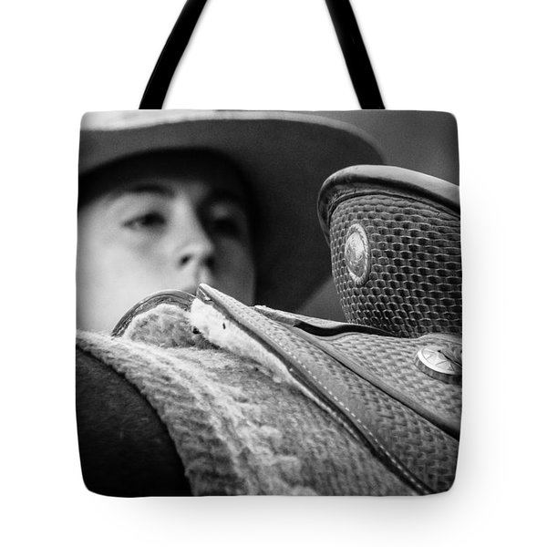 Tote Bag featuring the photograph Annie's Saddle by Steven Bateson