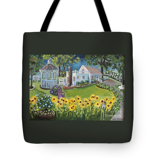 Tote Bag featuring the painting Annie's Summer Cottage by Rita Brown