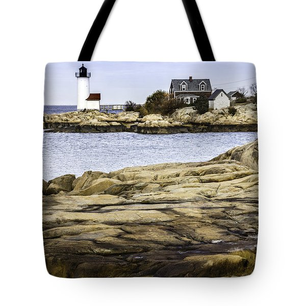 Tote Bag featuring the photograph Annisquam Light by Betty Denise