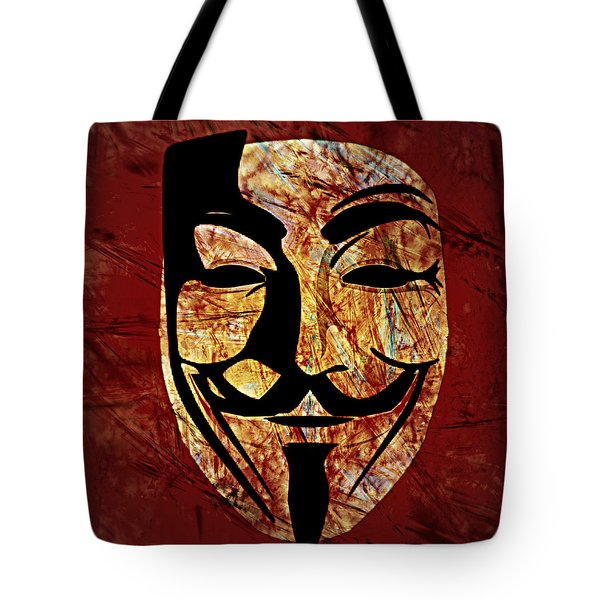 Anonymous Tote Bag by Ally  White