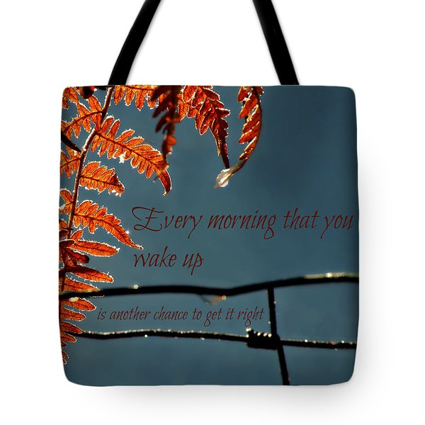Another Chance Tote Bag by Micki Findlay