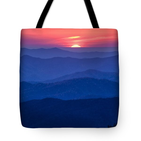 Another Day Ends Tote Bag
