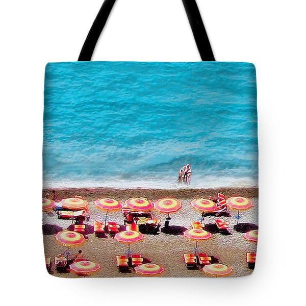 Another Day In Paradise-positano-digitized Tote Bag