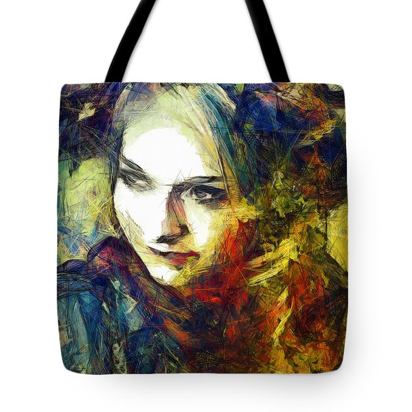 Tote Bag featuring the drawing Another Lonely Day by Joe Misrasi