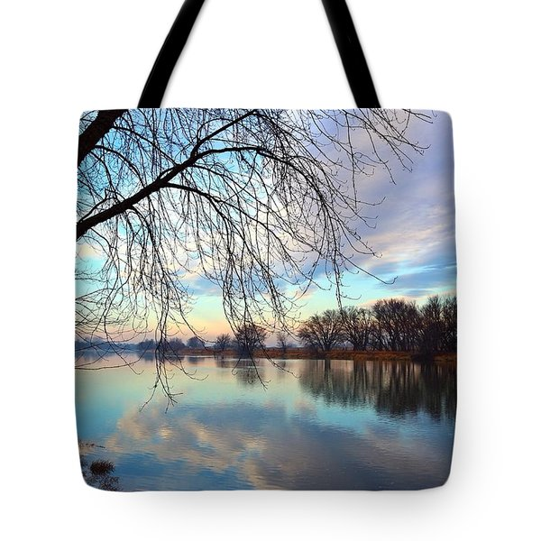 Tote Bag featuring the photograph Another Morning Reflection by Lynn Hopwood