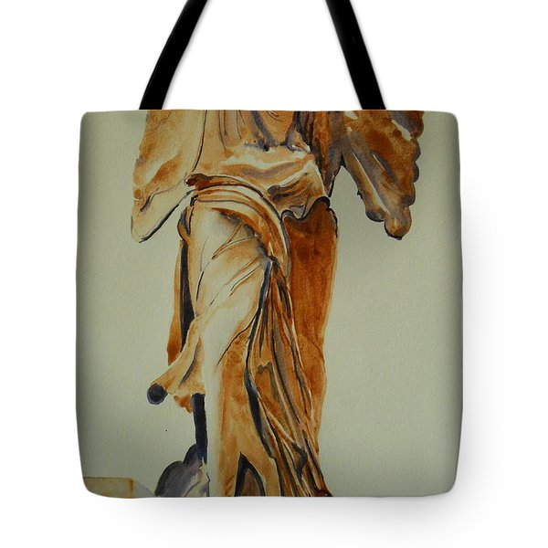 Another Perspective Of The Winged Lady Of Samothrace  Tote Bag