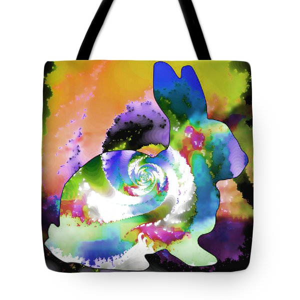Another Rabbit Hole For Alice Tote Bag by Elizabeth McTaggart