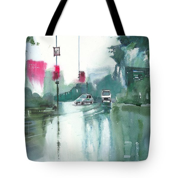 Another Rainy Day Tote Bag by Anil Nene