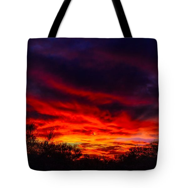 Tote Bag featuring the photograph Another Tucson Sunset by Mark Myhaver