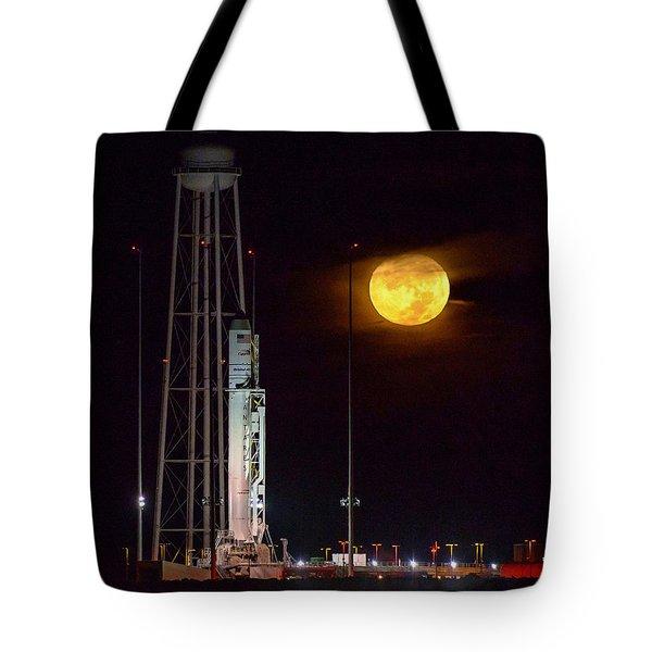 Antares Rocket At Launch Pad Tote Bag