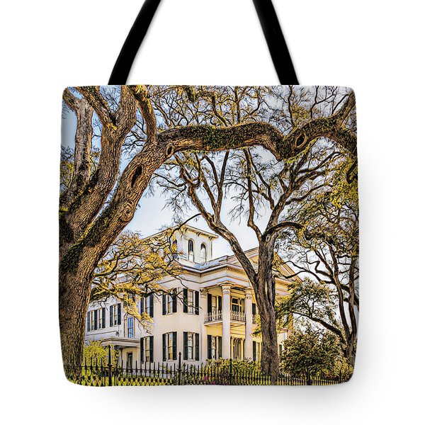 Antebellum Mansion Tote Bag