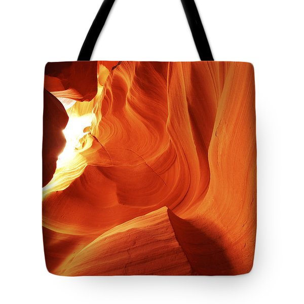 Tote Bag featuring the photograph Antelope Canyon In Winter Light 1 by Alan Vance Ley