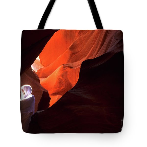 Antelope Canyon Keeper Of The Light Tote Bag by Bob Christopher