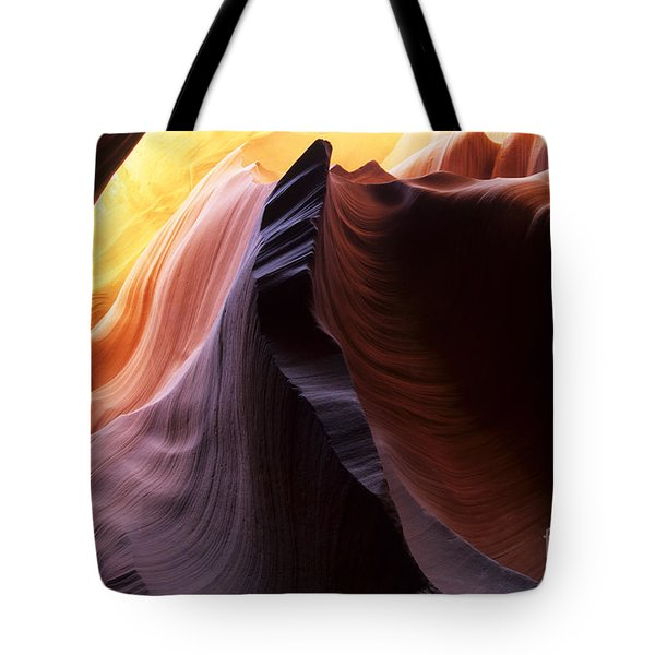 Antelope Canyon Pages Of Time Tote Bag by Bob Christopher
