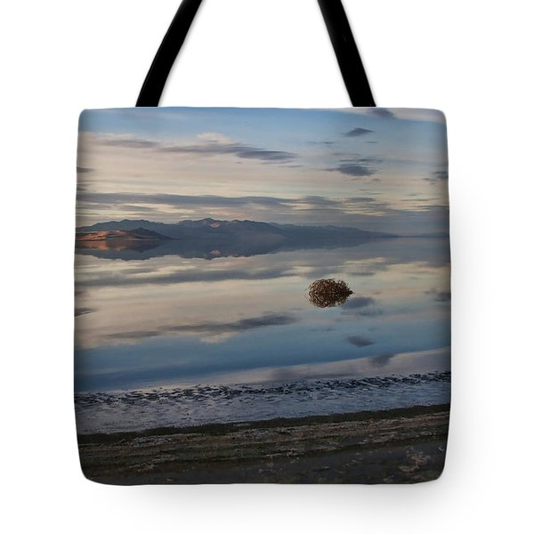 Tote Bag featuring the photograph Antelope Island - Lone Tumble Weed by Ely Arsha