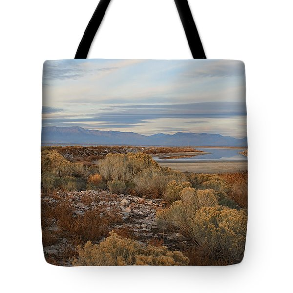 Tote Bag featuring the photograph Antelope Island - Scenic View by Ely Arsha