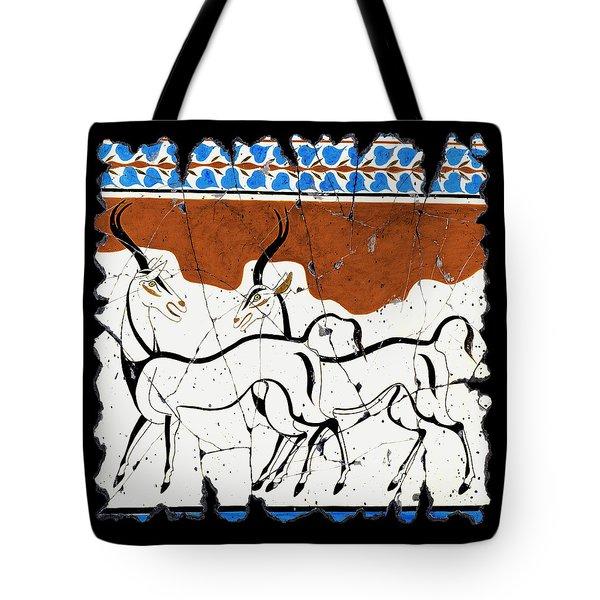 Antelope Of Akrotiri Tote Bag by Steve Bogdanoff