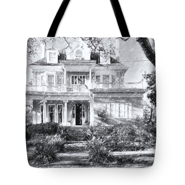 Anthemion At 4631 St Charles Ave. New Orleans Sketch Tote Bag