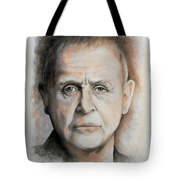 Anthony Hopkins Tote Bag by William Walts