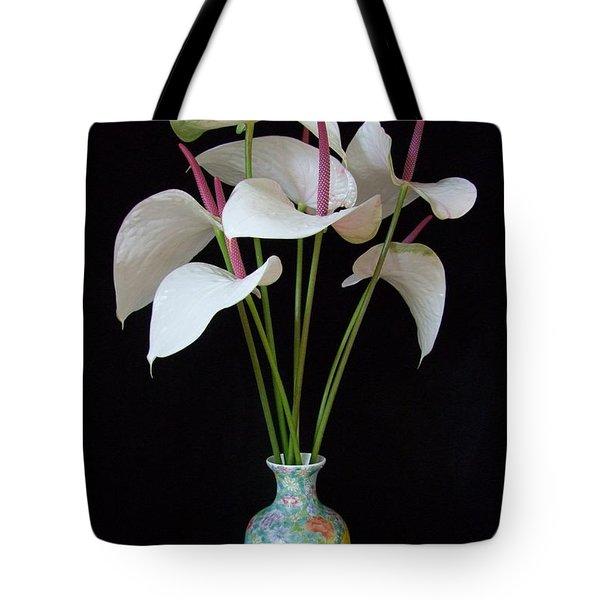Anthurium Bouquet Tote Bag by Mary Deal