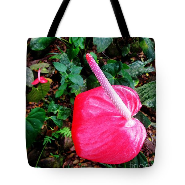 Anthurium Flower Two Tote Bag by Tina M Wenger