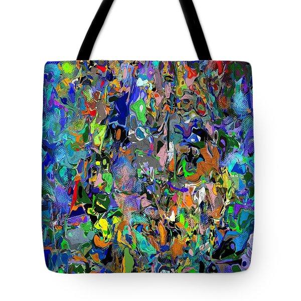 Tote Bag featuring the digital art Anthyropolitic 1 by David Lane