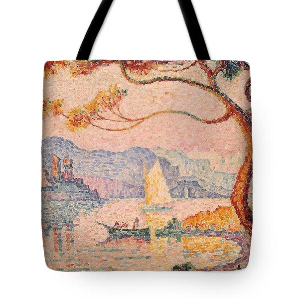 Antibes  Petit Port De Bacon Tote Bag by Paul Signac