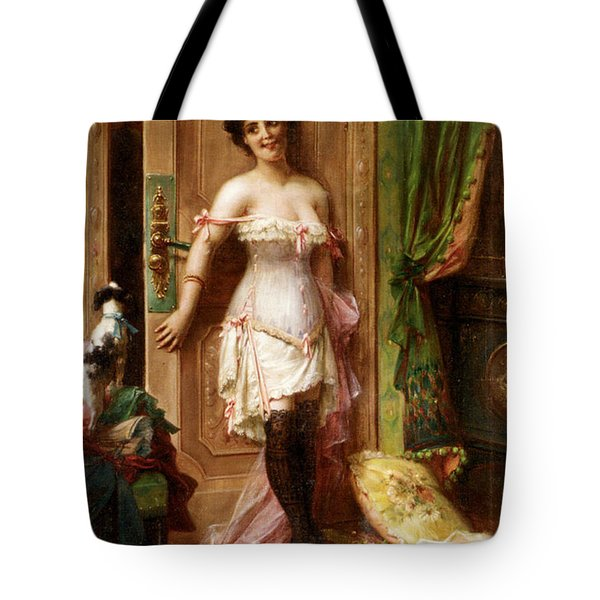 Anticipation Tote Bag by Hanz Zatzka
