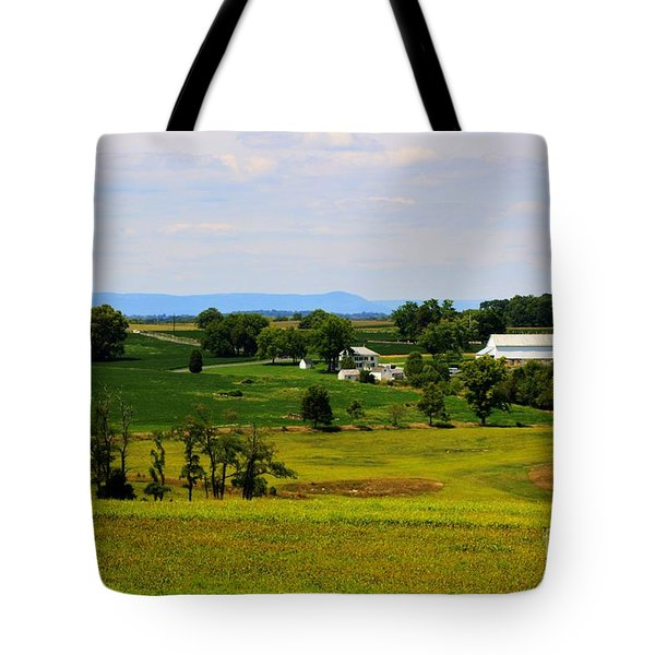 Antietam Battlefield And Mumma Farm Tote Bag by Patti Whitten