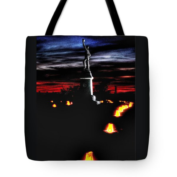 Antietam Memorial Illumination - 3rd Pennsylvania Volunteer Infantry Sunset Tote Bag by Michael Mazaika