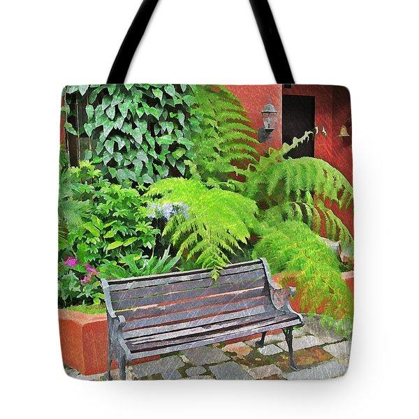 Antigua Bench Tote Bag