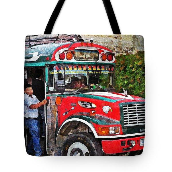 Antigua Bus Stop Tote Bag