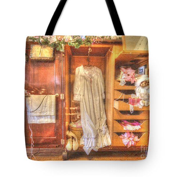 Antique Armoire Tote Bag by Liane Wright