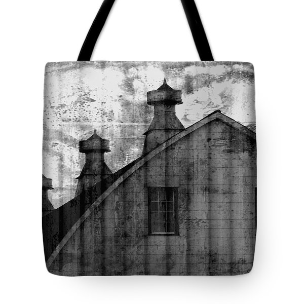 Antique Barn - Black And White Tote Bag by Joseph Skompski