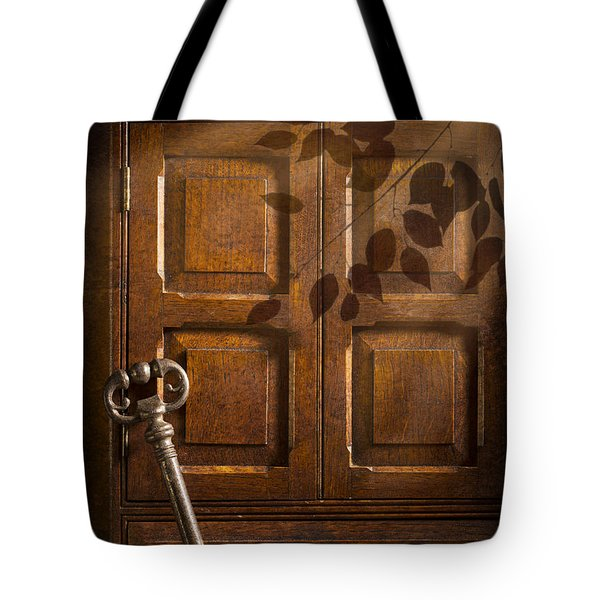 Antique Cabinet Tote Bag by Amanda Elwell