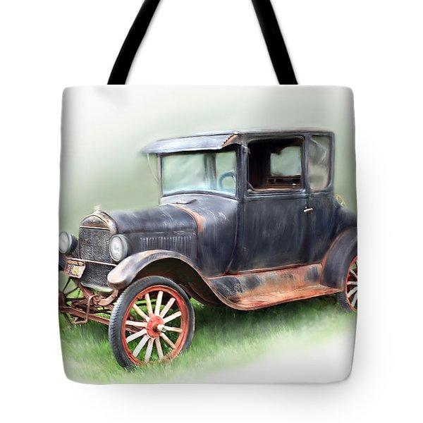 Antique Car Tote Bag by Bonnie Willis