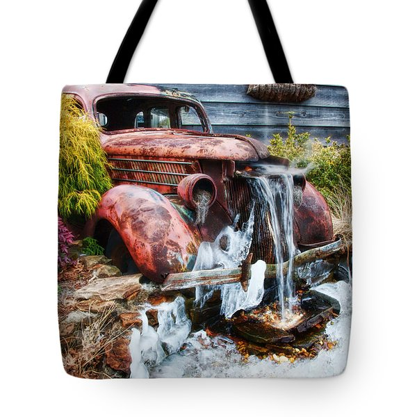 Antique Car Water Fountain Columbus Georgia Tote Bag