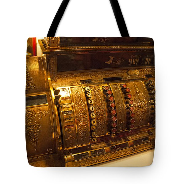 Tote Bag featuring the photograph Antique Cash Register by Jerry Cowart