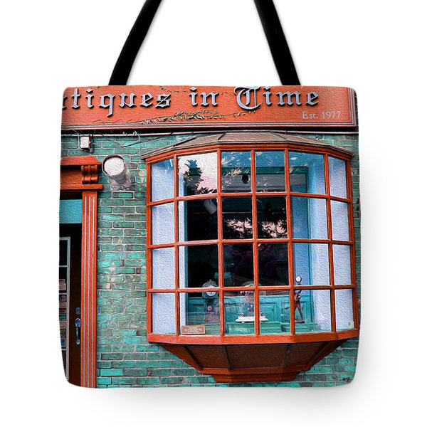 Antique Clock Shop Tote Bag by Nina Silver